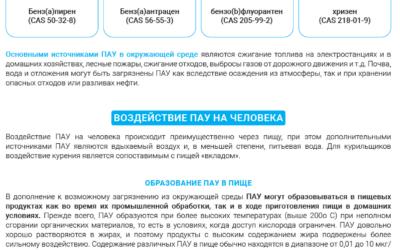 PAHe käsitlev teabematerjal (vene keeles)